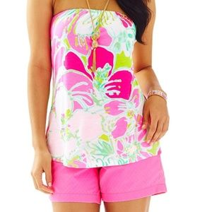 Lilly Pulitzer Tyra Strapless printed tube top XS